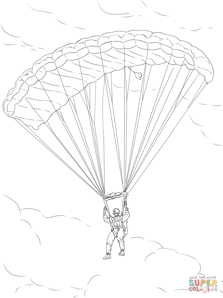 Paratrooper Coloring Pages Coloring Home