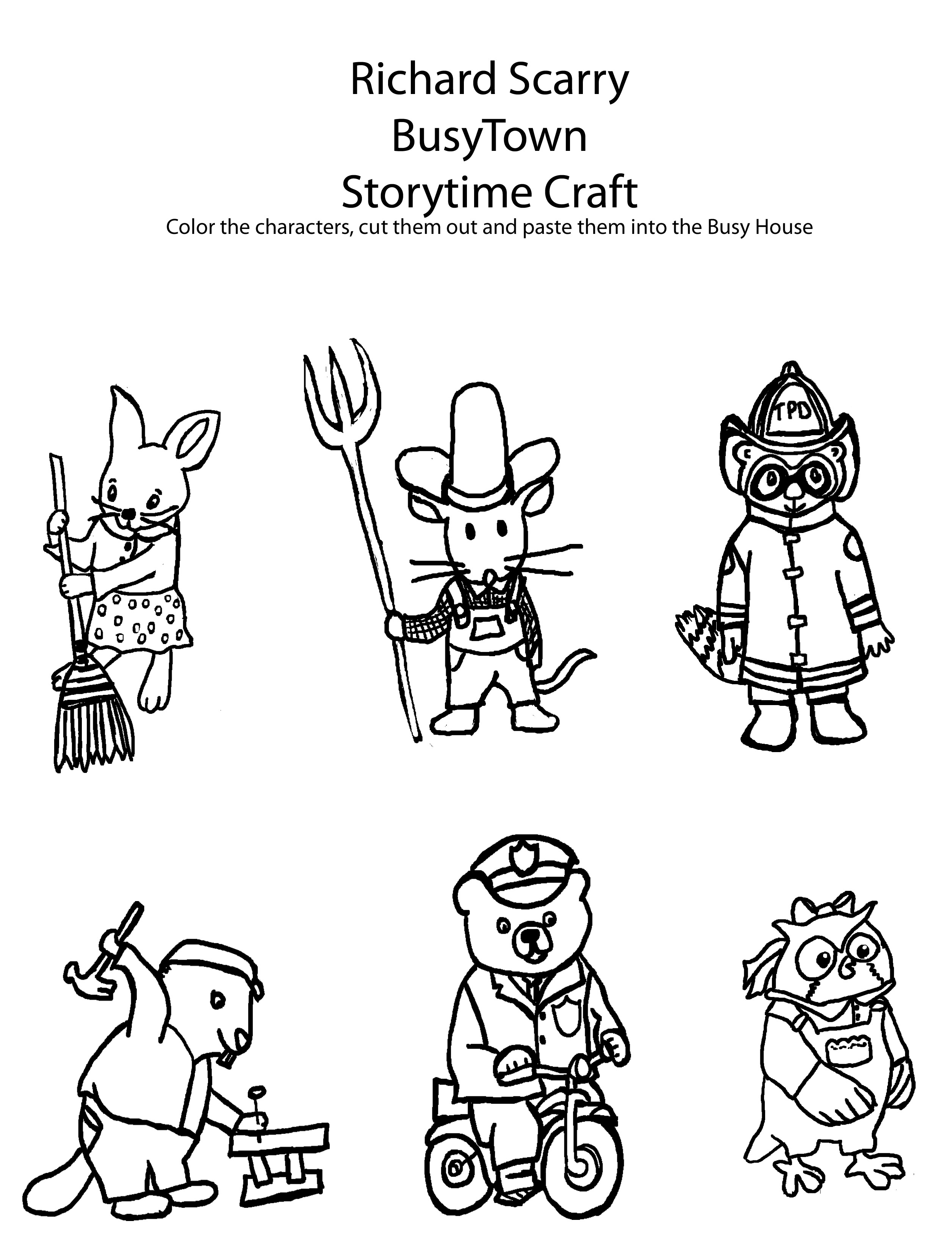 richard scarry preschool coloring pages - photo#7