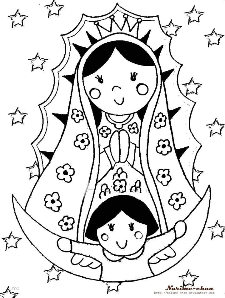 Our lady of guadalupe coloring page realistic coloring pages for Virgen de guadalupe coloring pages