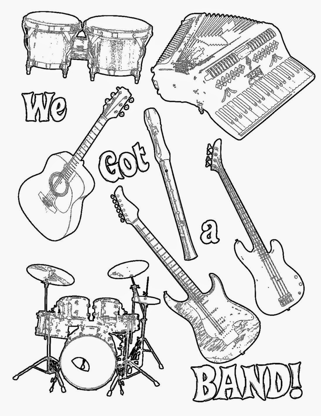 Indie Rock Coloring Book Pages - Coloring Home