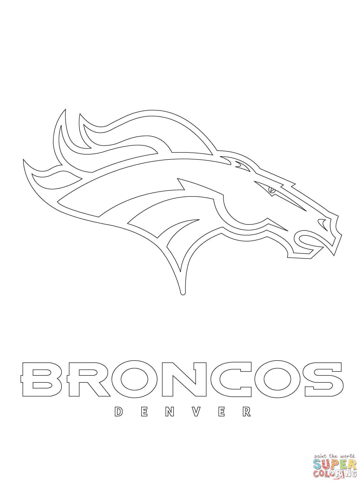 Denver Broncos Logo coloring page | Free Printable Coloring Pages