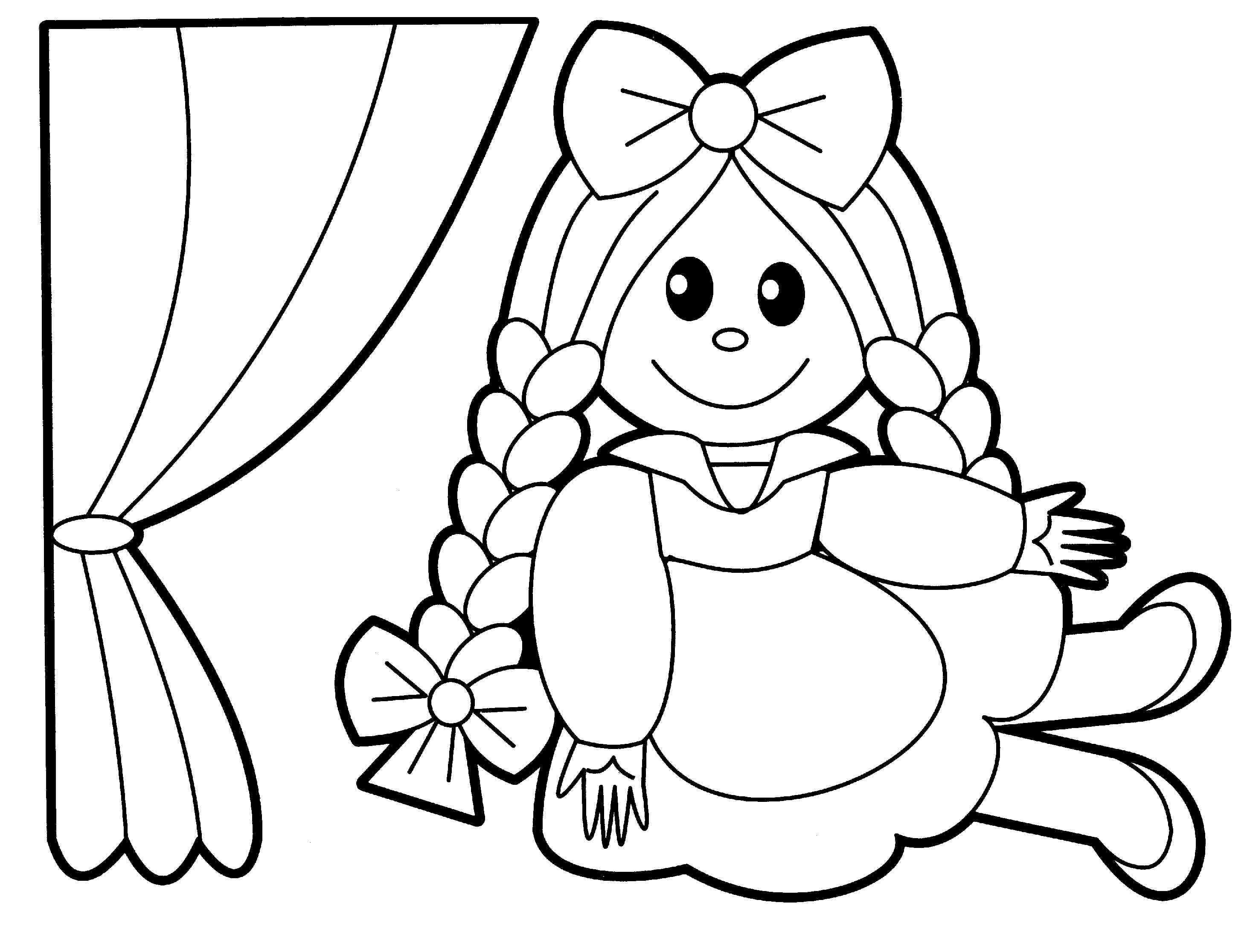Coloring Pages Cartoon Baby Doll - Coloring Home