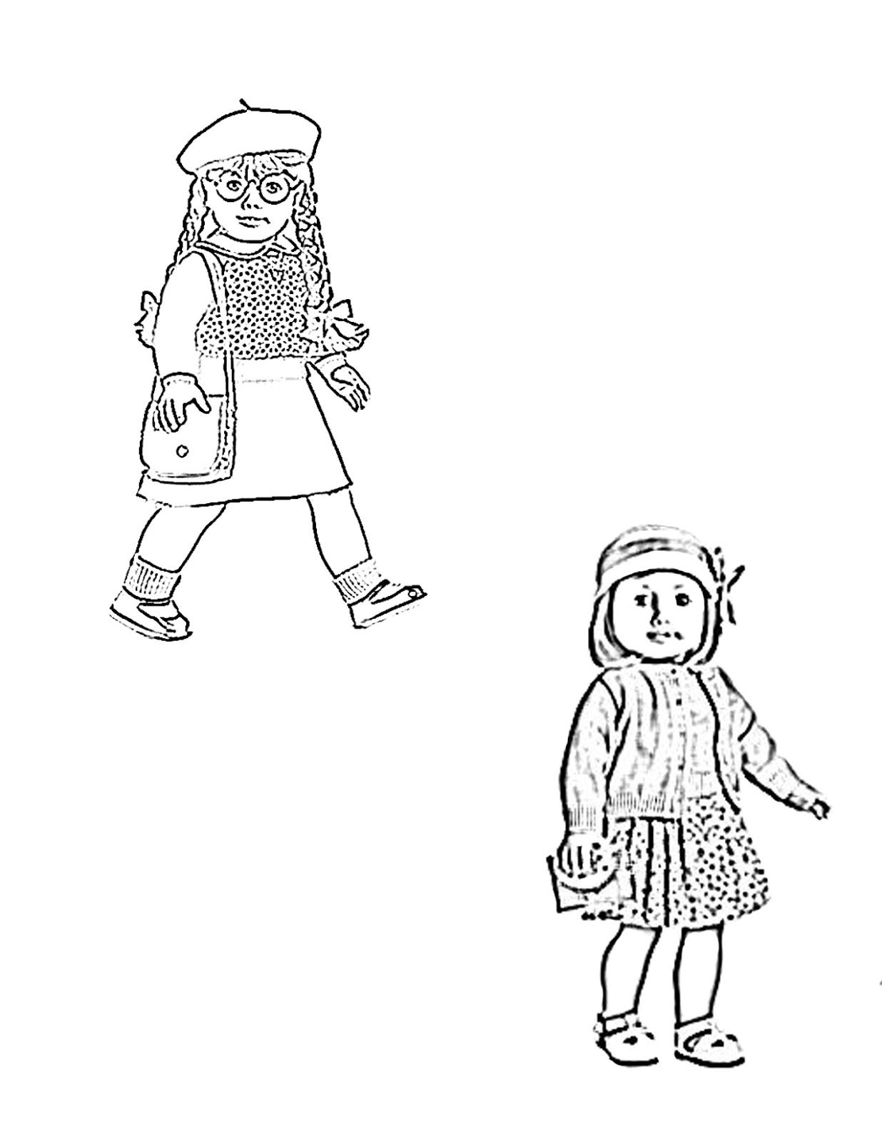 coloring pages of american girl dolls coloring picture