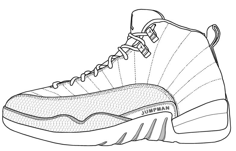 Jordan Shoe - Coloring Pages for Kids and for Adults