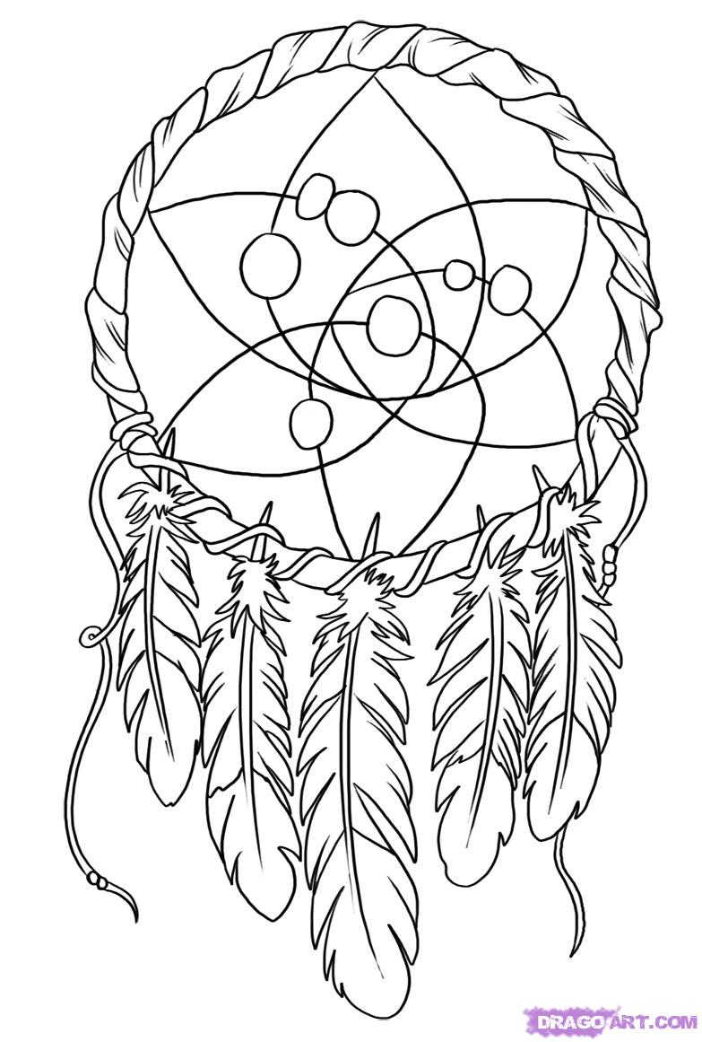 Dream Catcher Coloring Pages Coloring Page Coloring Home