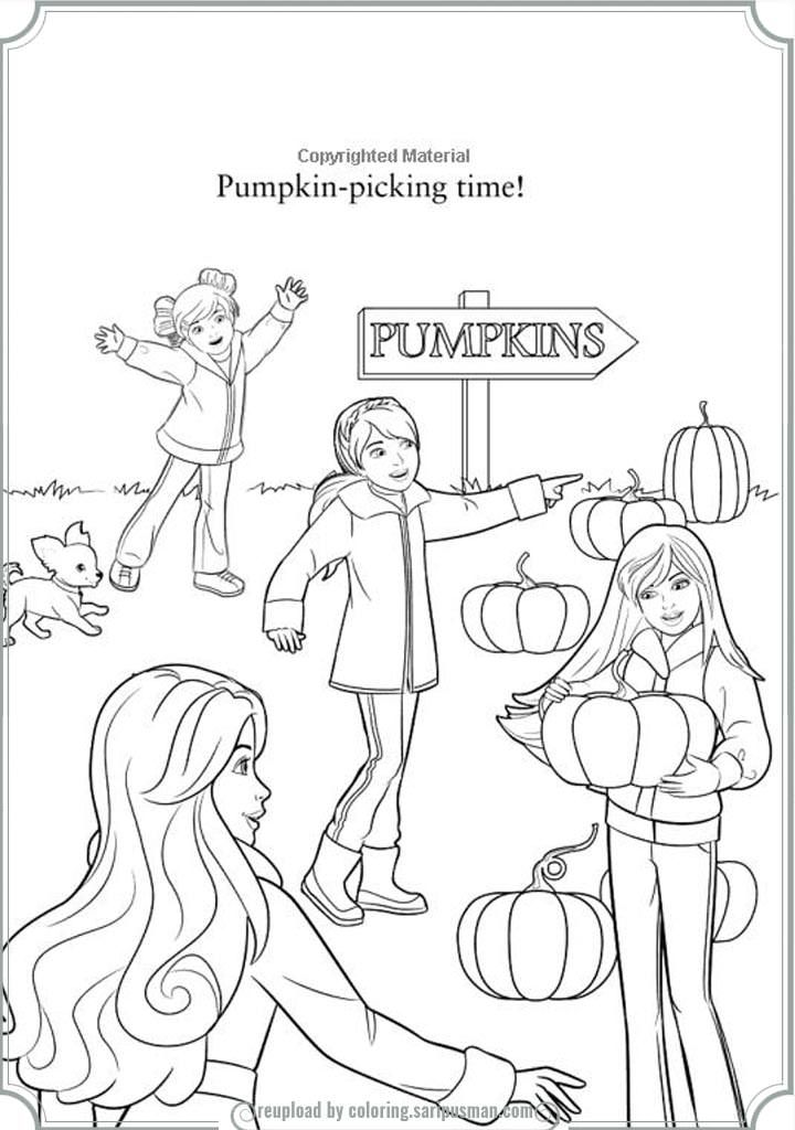 Printable Halloween Barbie Coloring Pages
