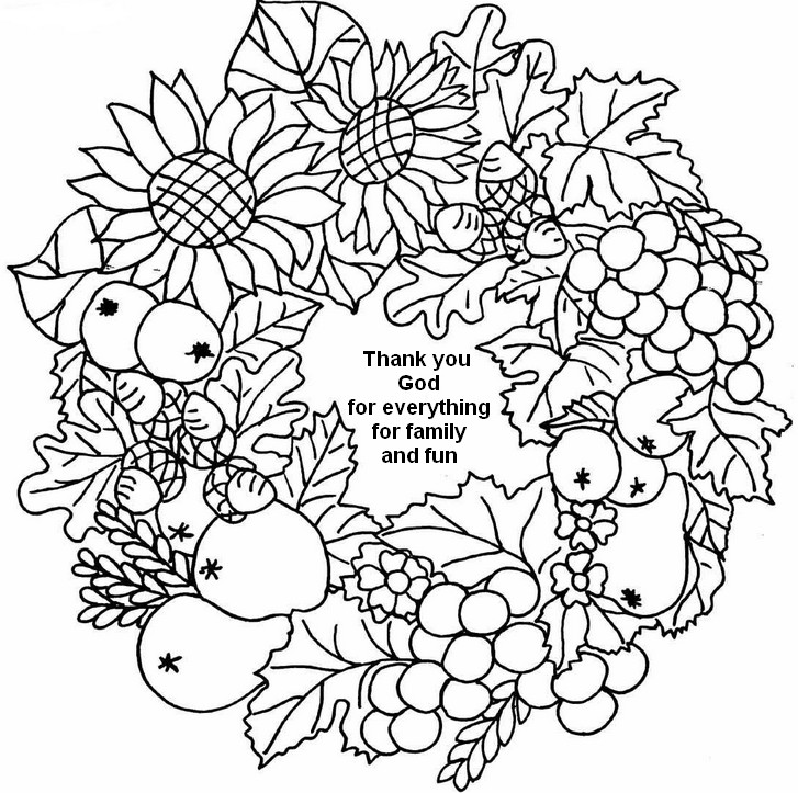 Thanksgiving Coloring Page For Adults Coloring Home