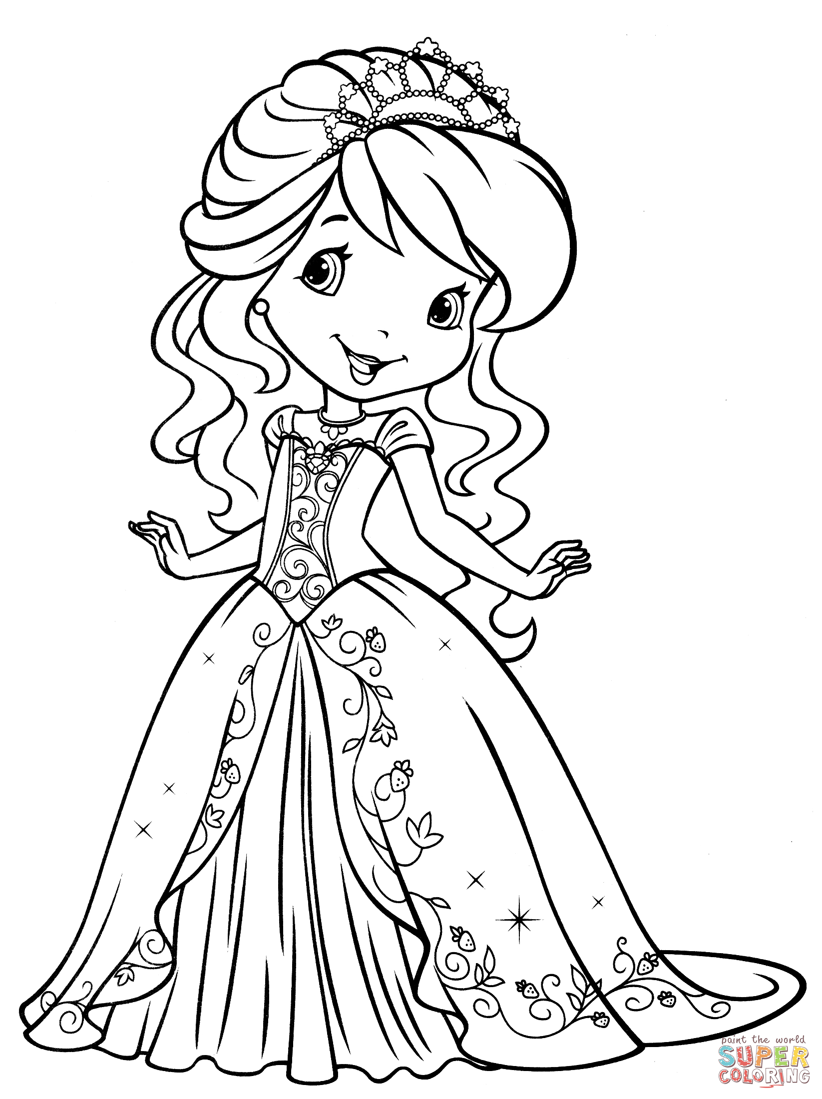 Strawberry Shortcake Coloring Page Free Printable Coloring Pages