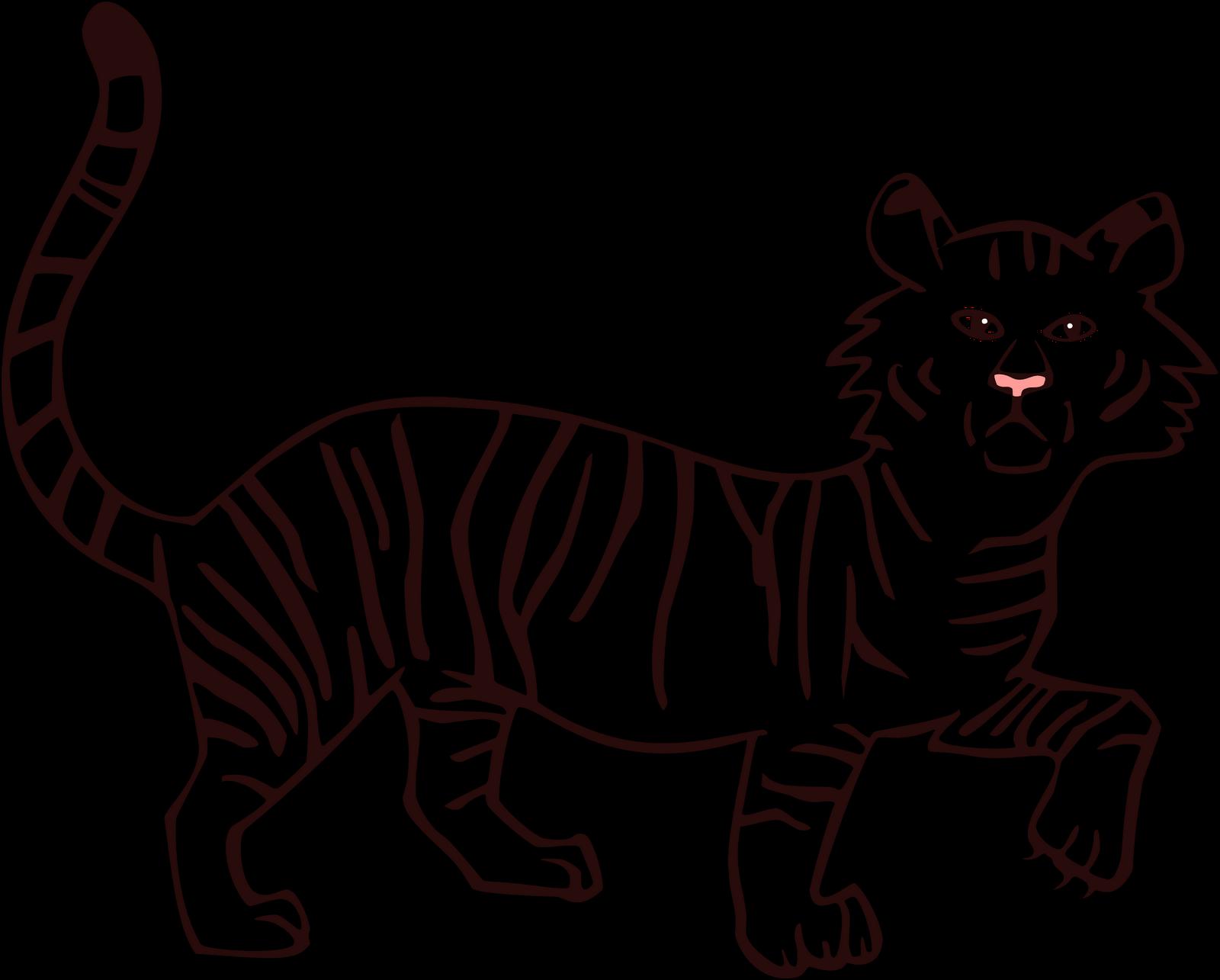 tiger outline free