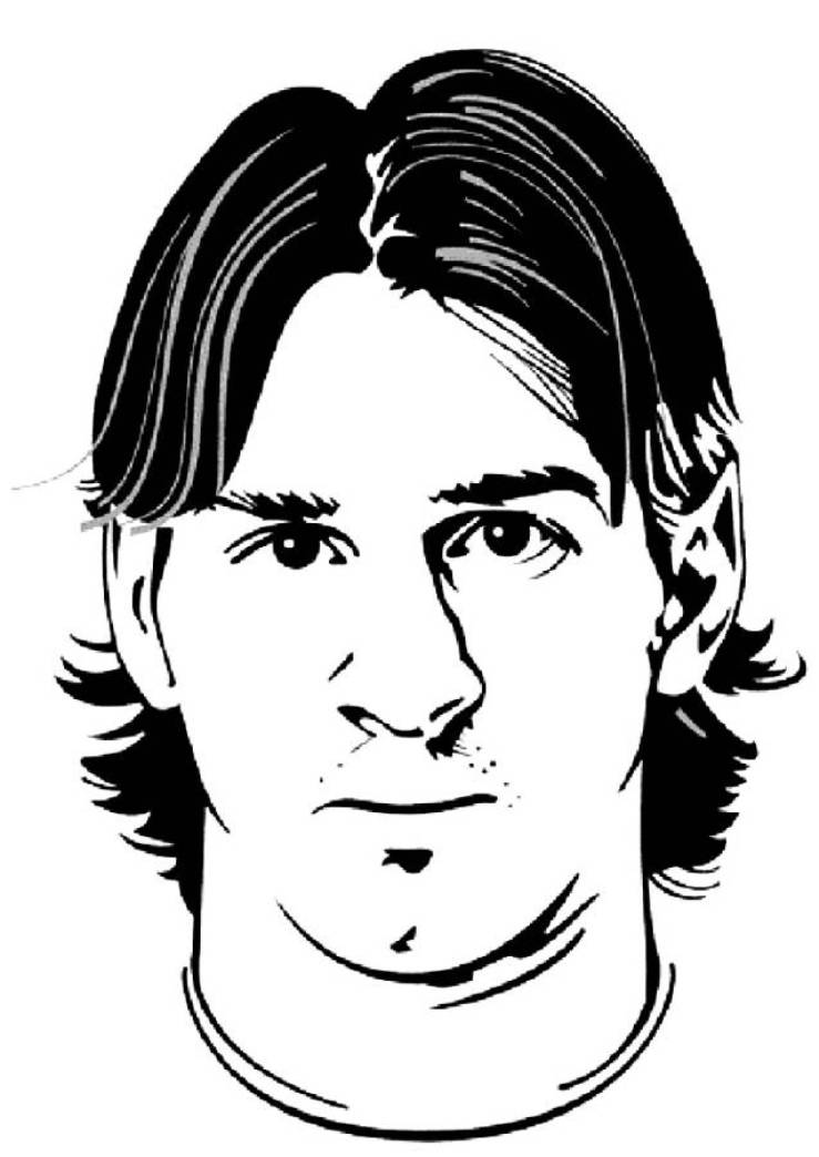 Messi Coloring Pages Coloring