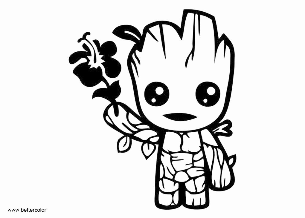 Baby Groot Coloring Page Lovely Cute ...pinterest.com