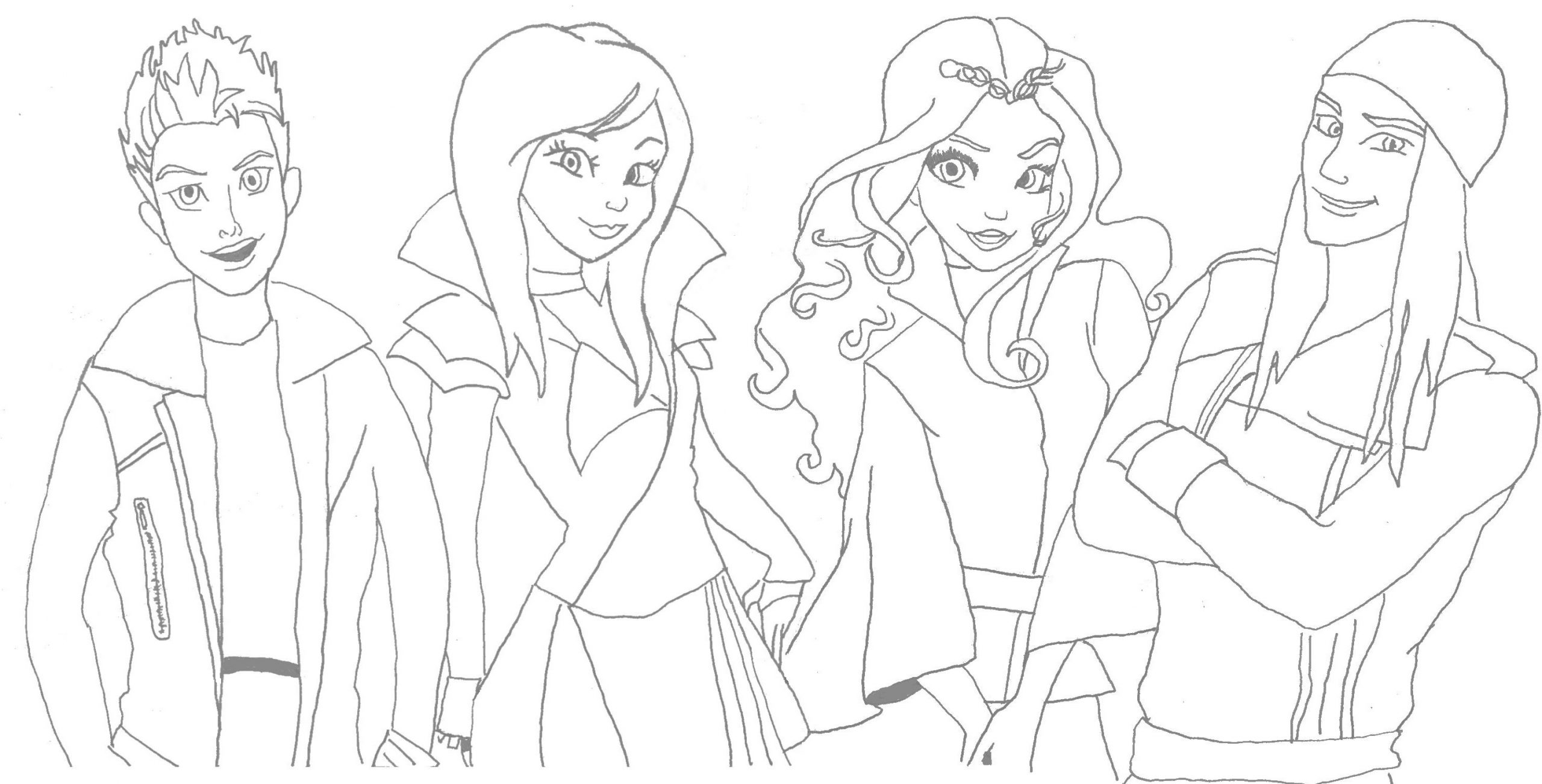 Coloring Pages Disneydants Coloring Pages Pictures To Print Mal And Evie Celia Excelent Disney Descendants Coloring Pages Photo Ideas Ny19 Votes Coloring Home