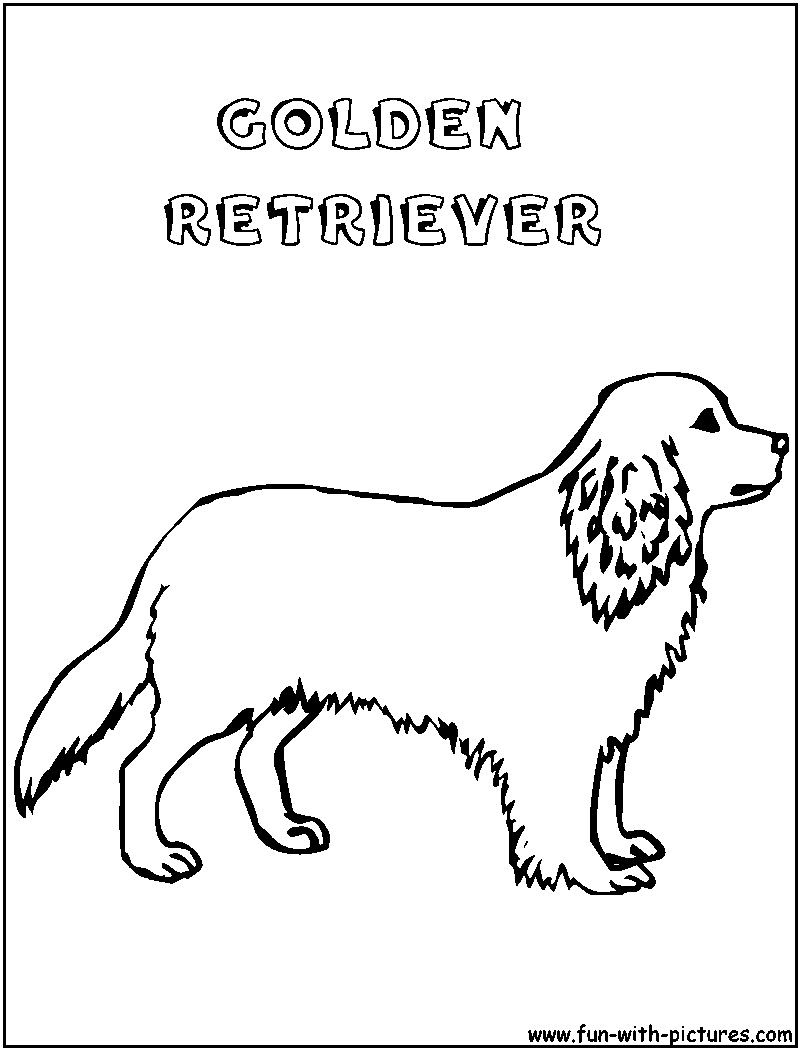 Printable 16 Golden Retriever Coloring Pages 4687 - Golden ...
