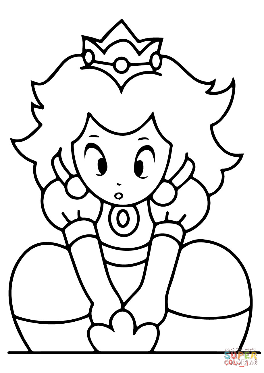 mario and peach coloring pages coloring home