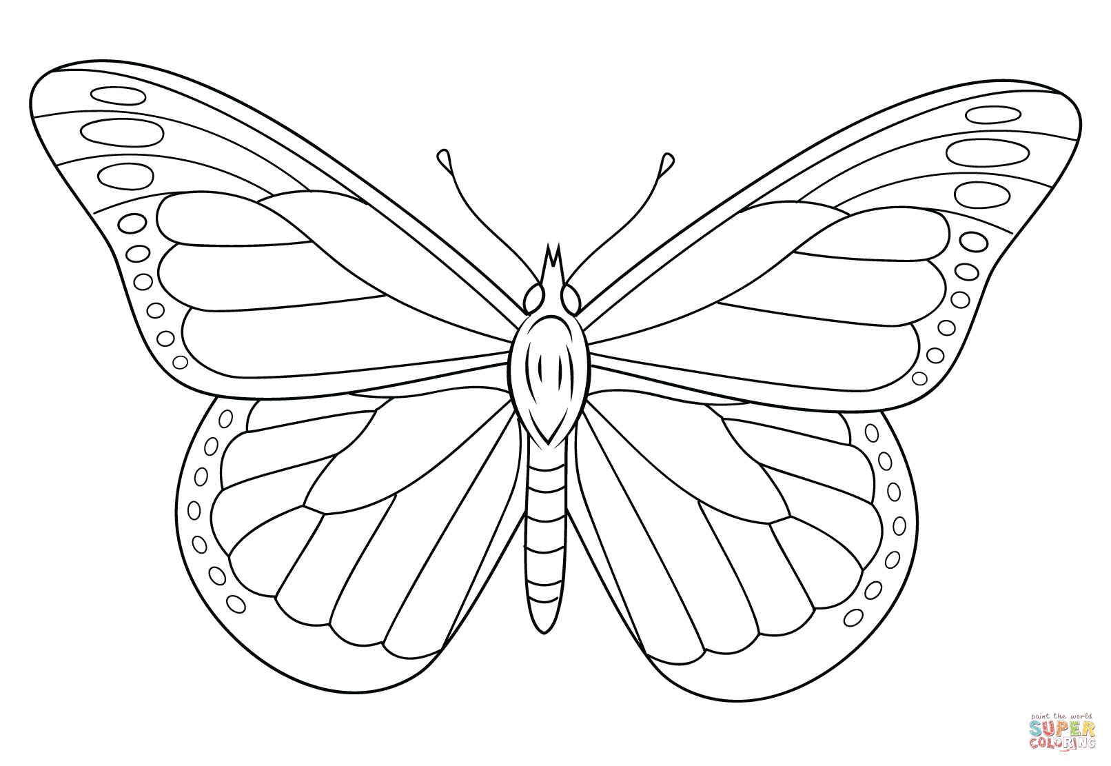 free simple butterfly coloring pages - photo#44