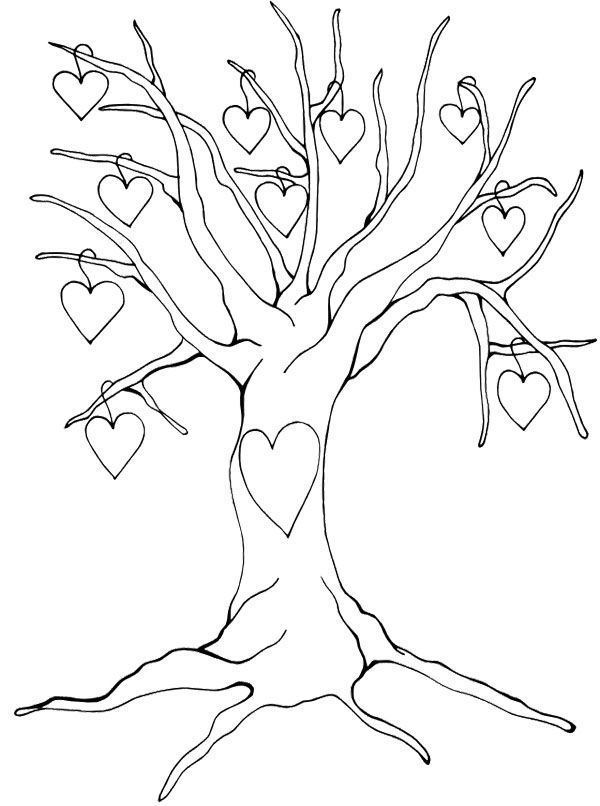 Tree with no leaves coloring page coloring home for Leafless tree coloring page