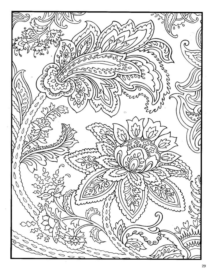 adult coloring pages 2 adult coloring pages dover - Coloring Book Pages For Adults 2