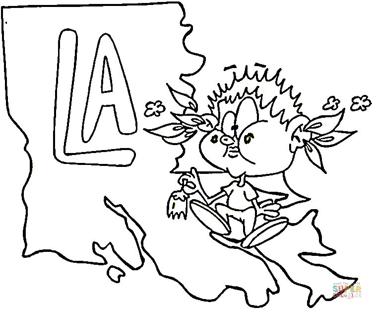 louisiana flag coloring pages - photo#19