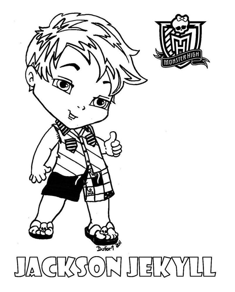 Monster High Abbey Coloring Pages 16