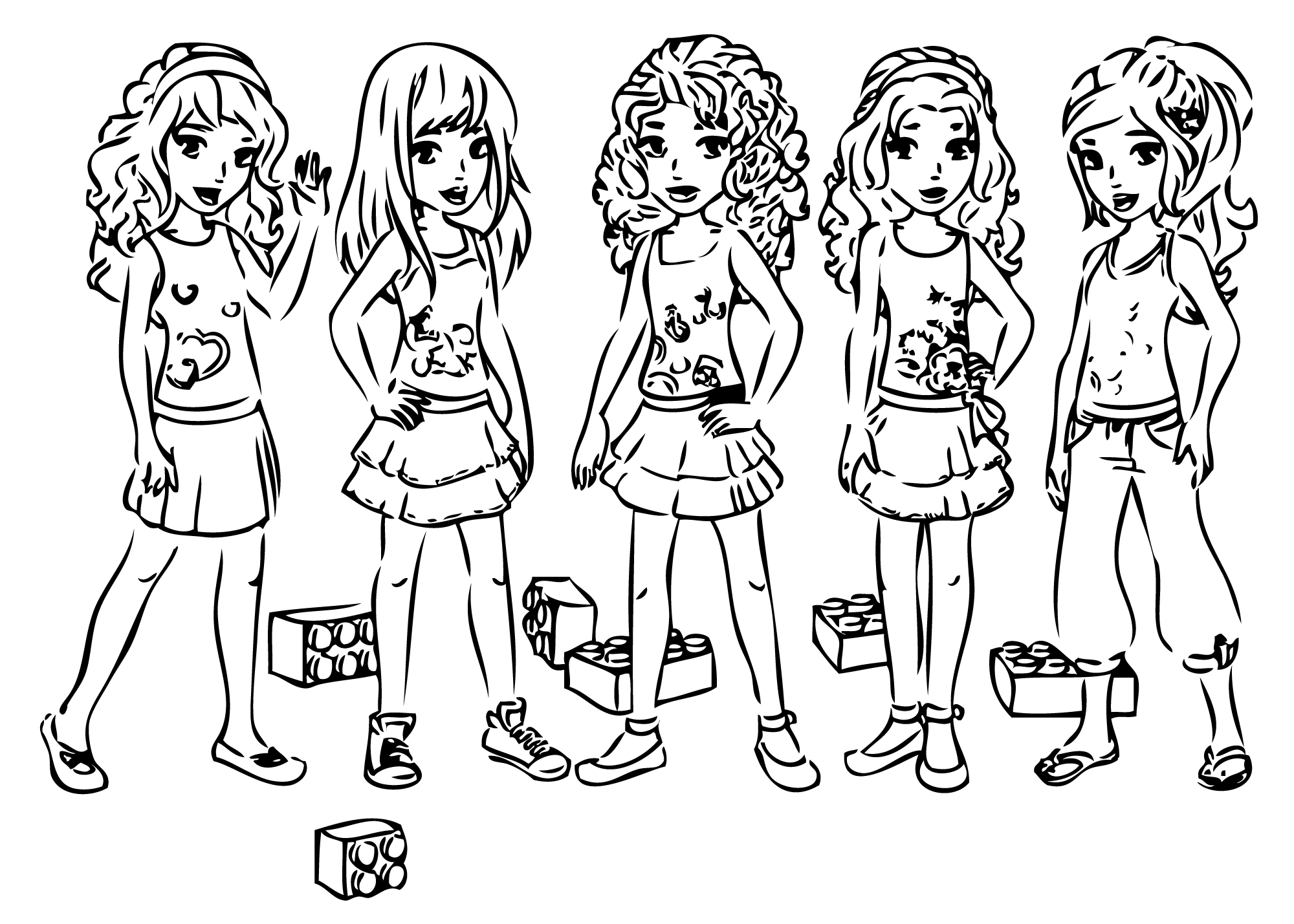 Free Printable Coloring Pages Lego Friends Free Coloring