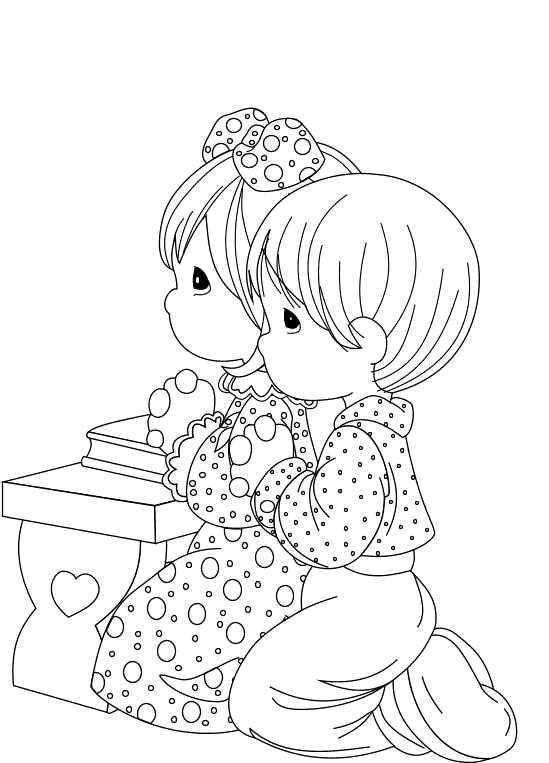 kids praying coloring page interesting