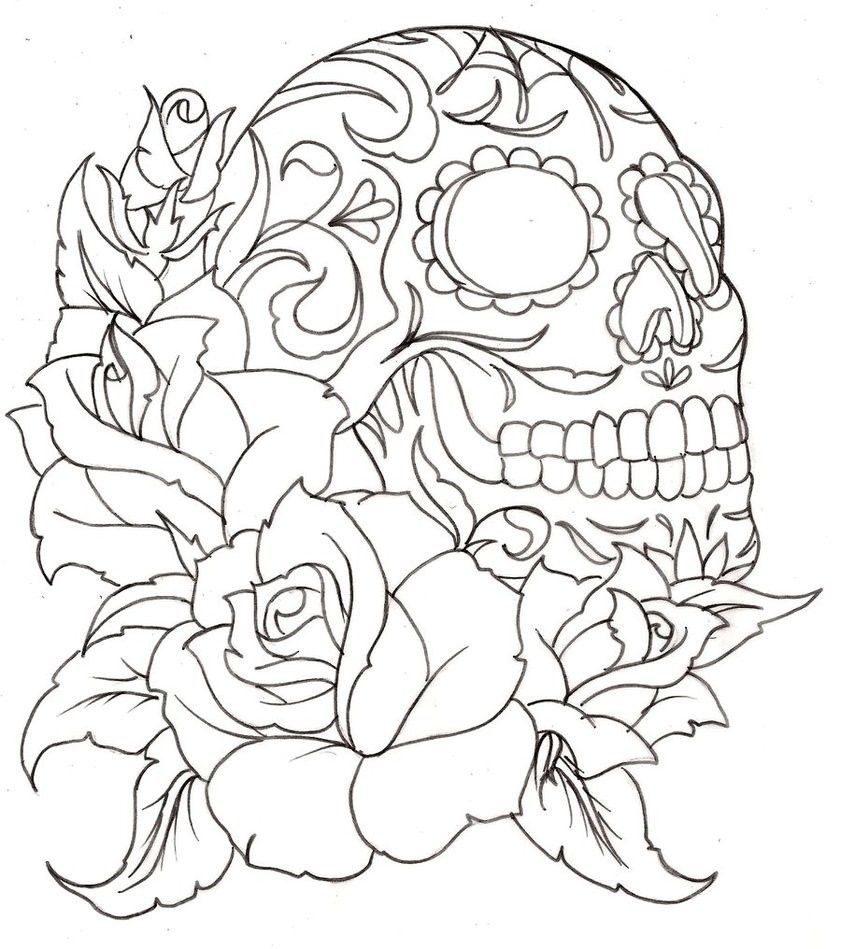 Halloween Skull Coloring Pages Skull Coloring Pages Sugar Skull ...