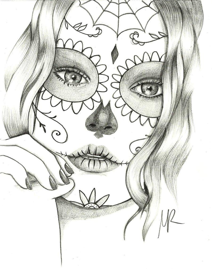 Sugar Skulls Coloring Pages For S - High Quality Coloring Pages