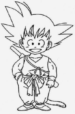 Goku Coloring Games - Coloring Pages for Kids and for Adults