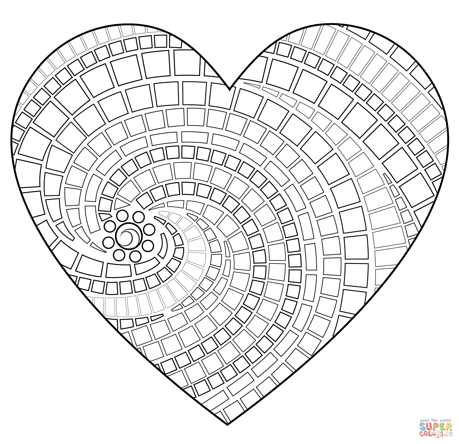 Roman Mosaic Coloring Pages Coloring