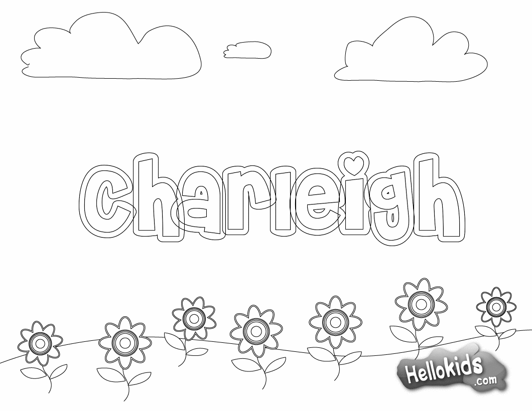Coloring Pages Of Your Name AZ