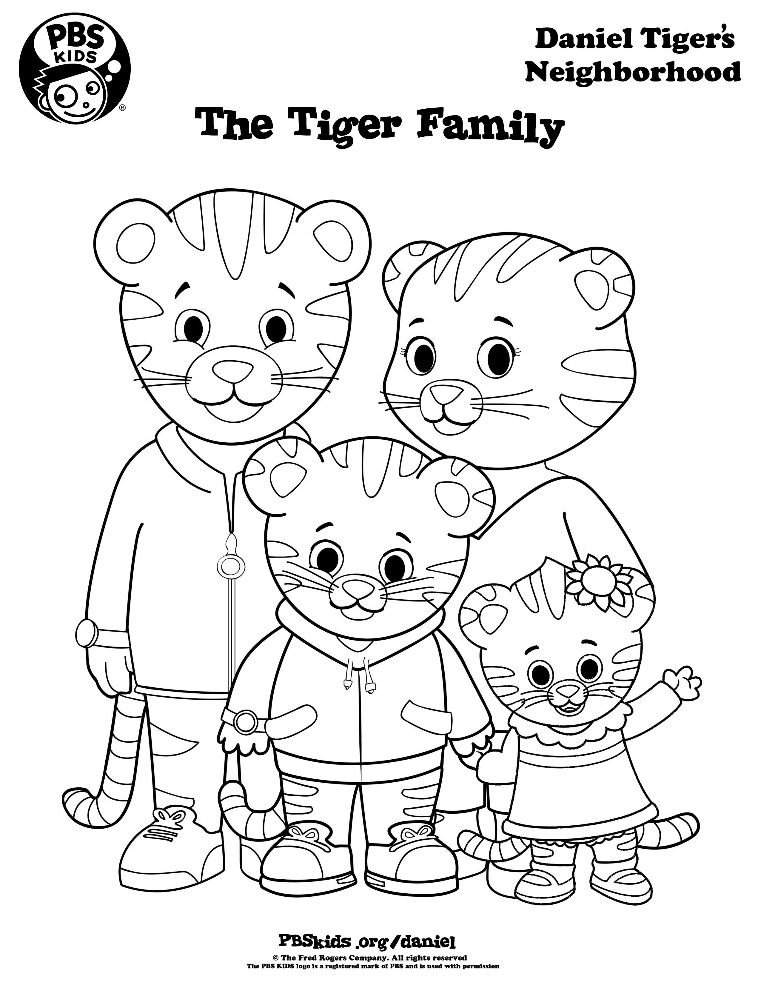 daniel tiger coloring pages printable - photo#1