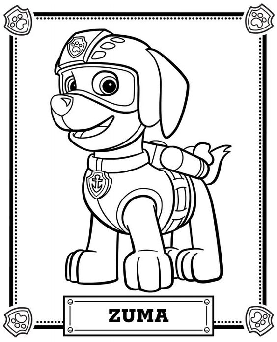 Printable Coloring Pages Of Paw Patrol : Paw patrol coloring pages home