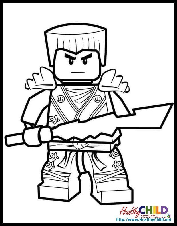 Coloring Page Lego Ninjago Coloring