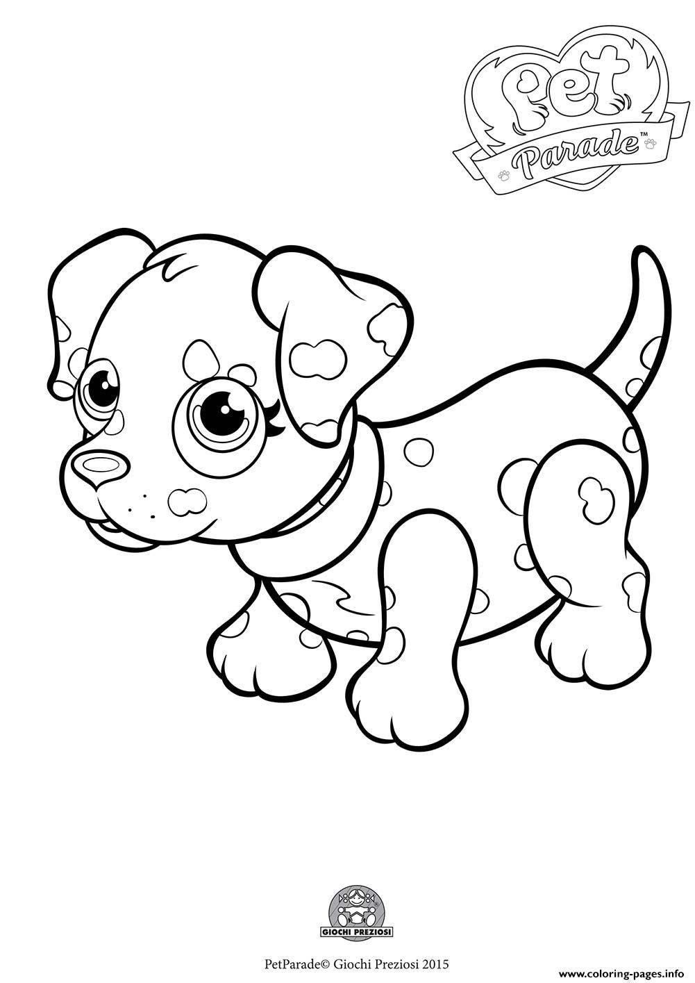 Dalmatian Dog Coloring Page Coloring