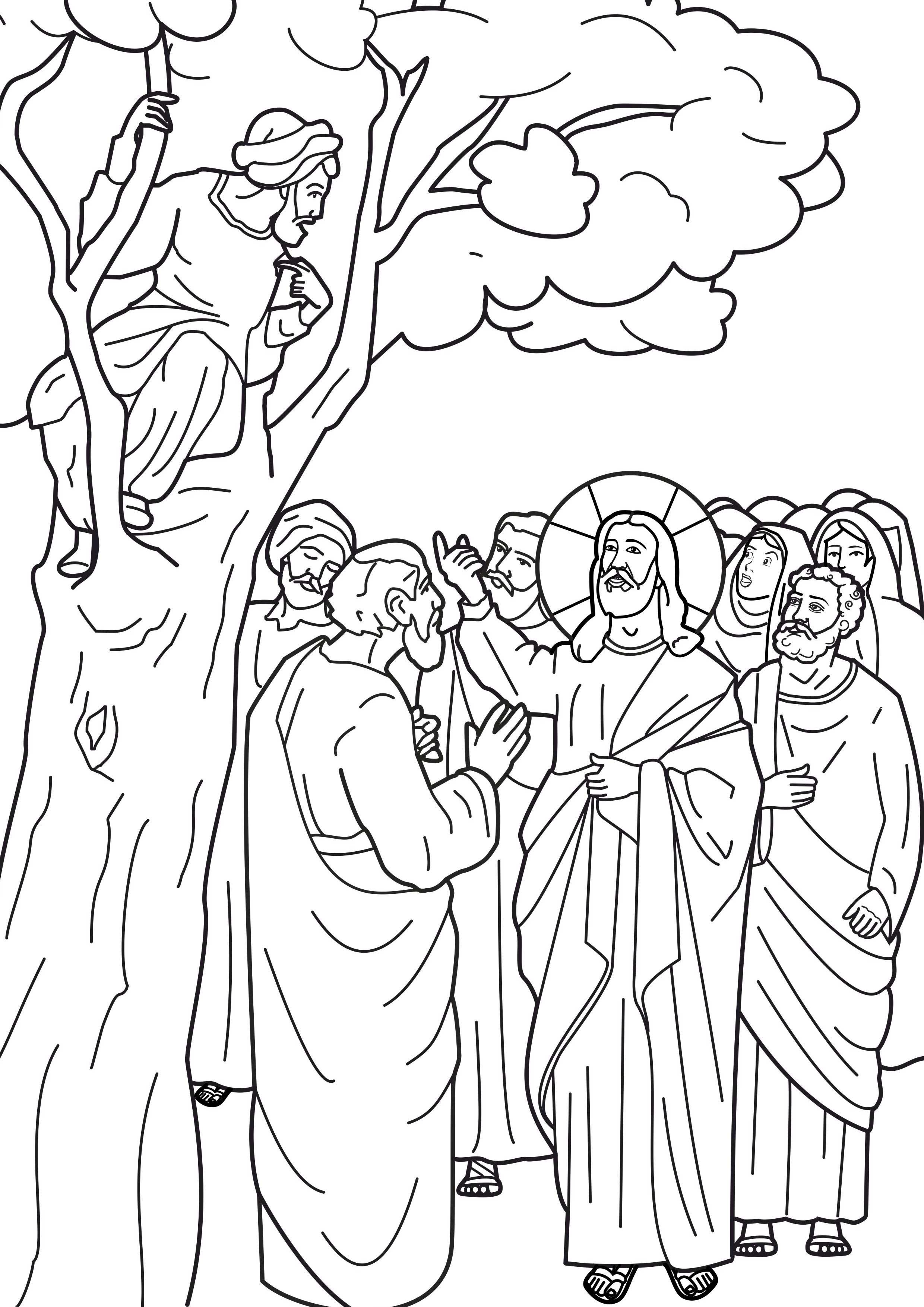 Best photos of zacchaeus print out free printable zacchaeus