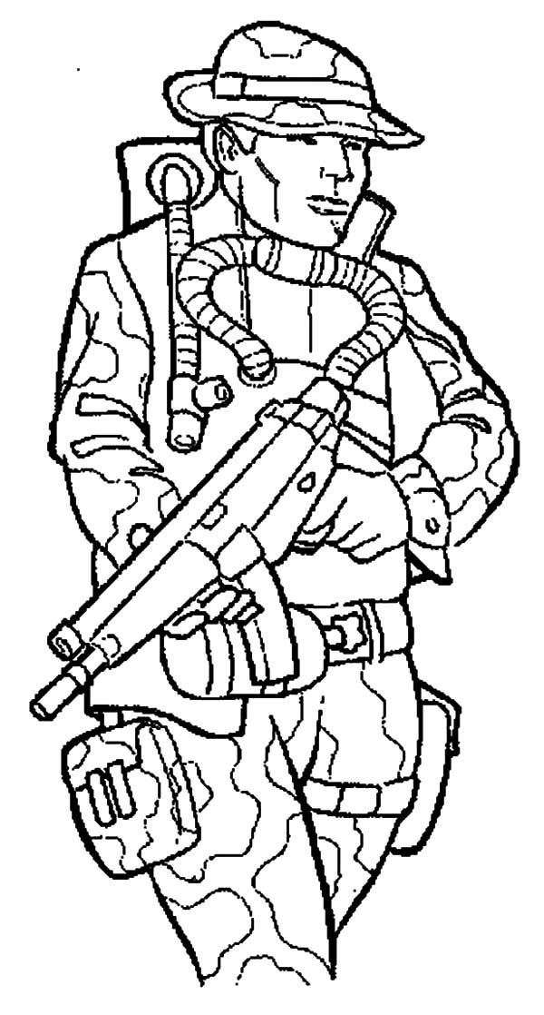Coloring Page Of A Soldier Coloring Home