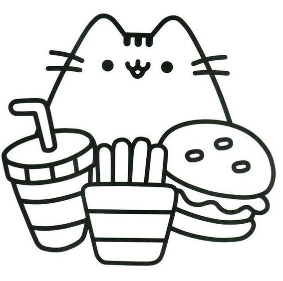 pretty cute pusheen coloring page | Pusheen coloring pages ...