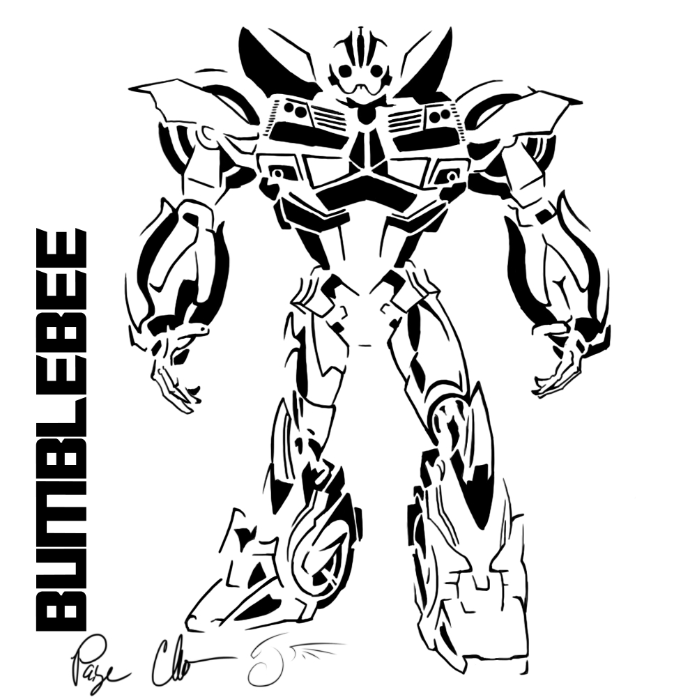 transformer bumblebee coloring pages - photo#2