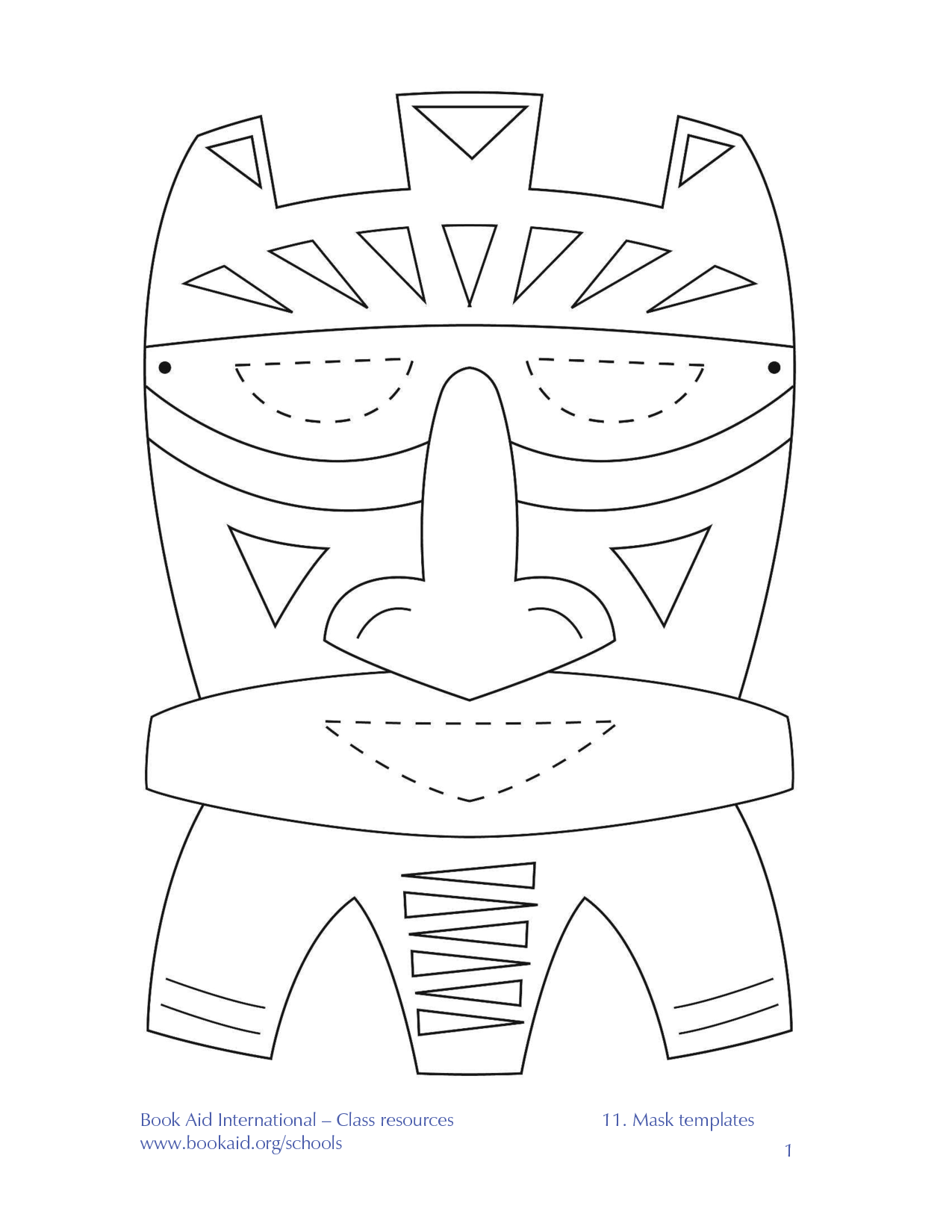 Clip Art African Masks Coloring Pages african mask coloring page az pages best photos of template templates