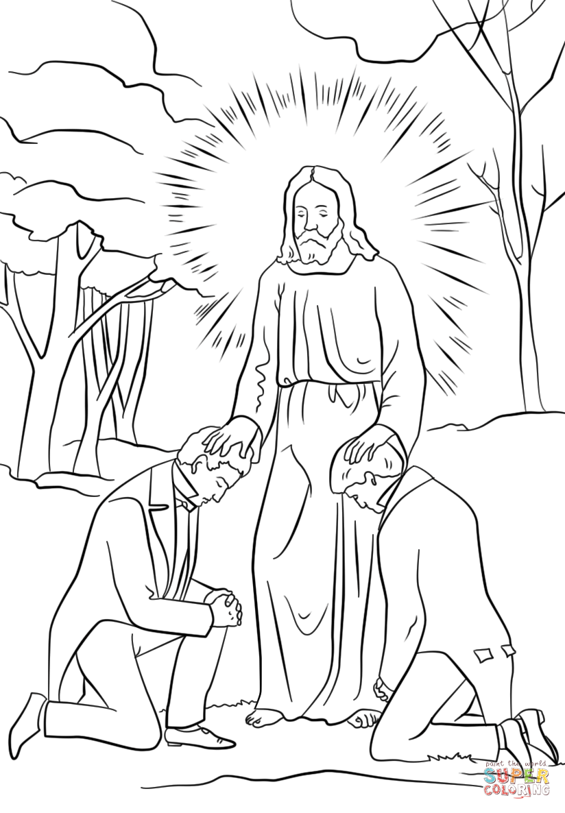 Moroni Appears to Joseph Smith in His Room coloring page   Free ...   1186x824