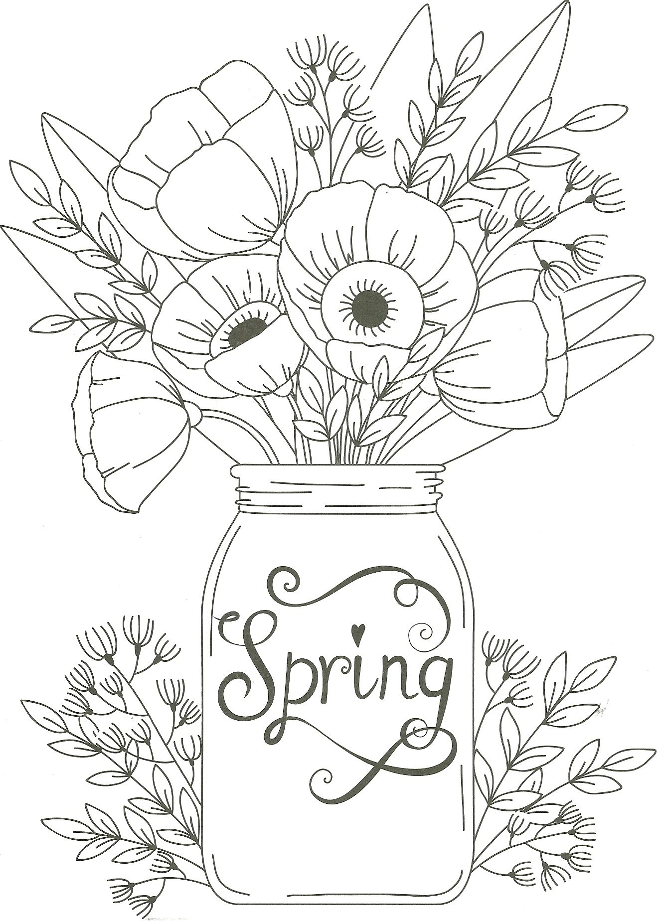 - Hard Flowers Coloring Pages - Coloring Home