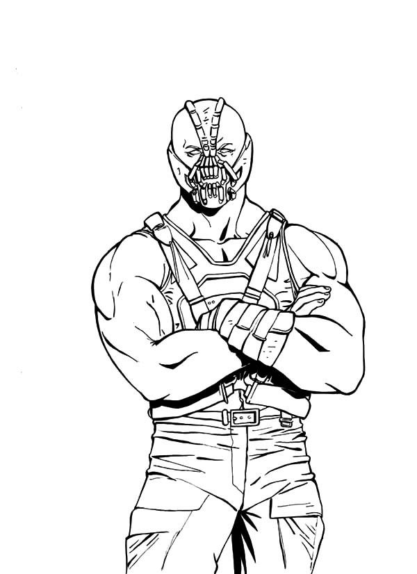 bane from batman coloring pages - photo#8