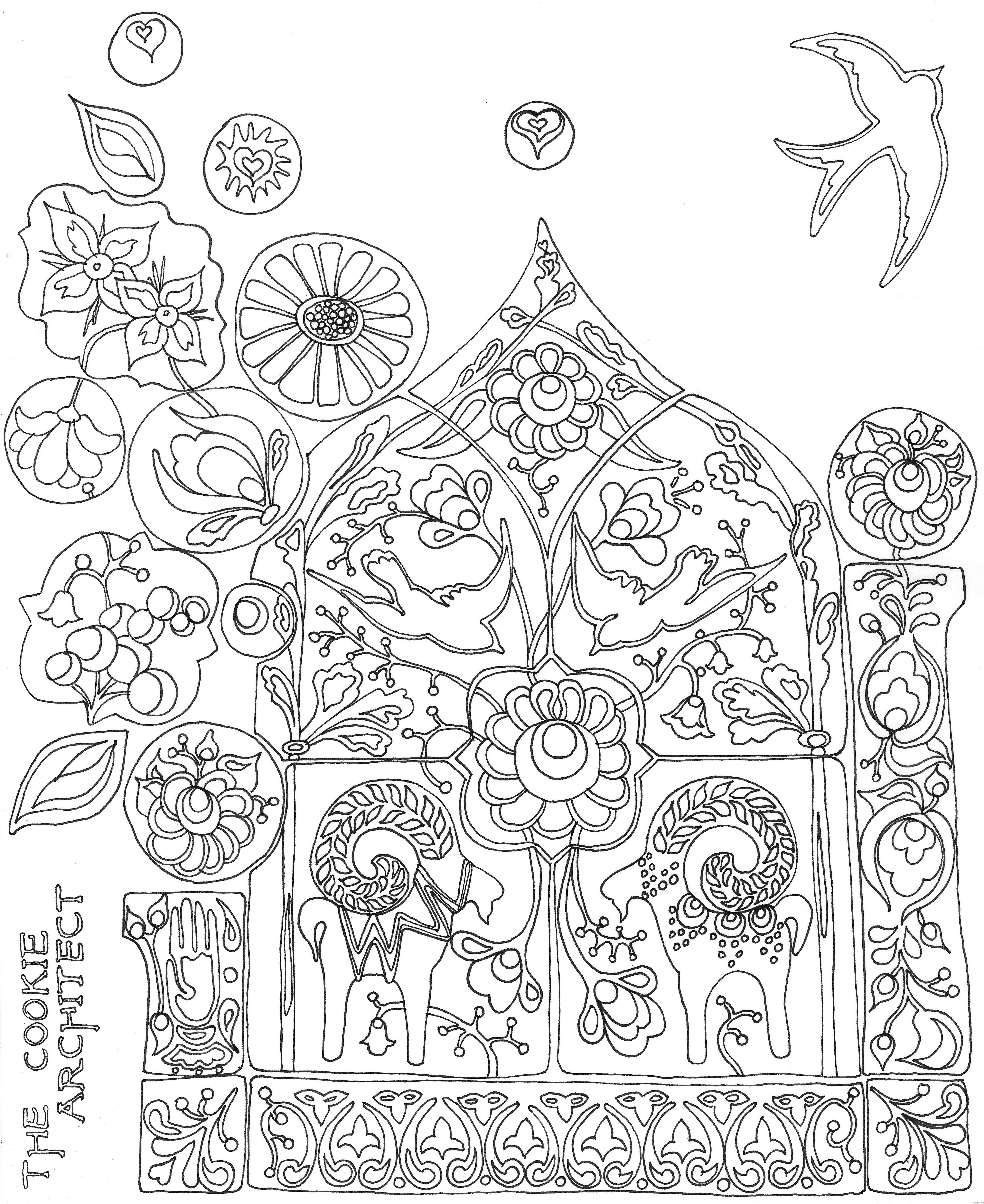 Mexican Folk Art Coloring Pages Coloring Home Mexican Folk Coloring Pages