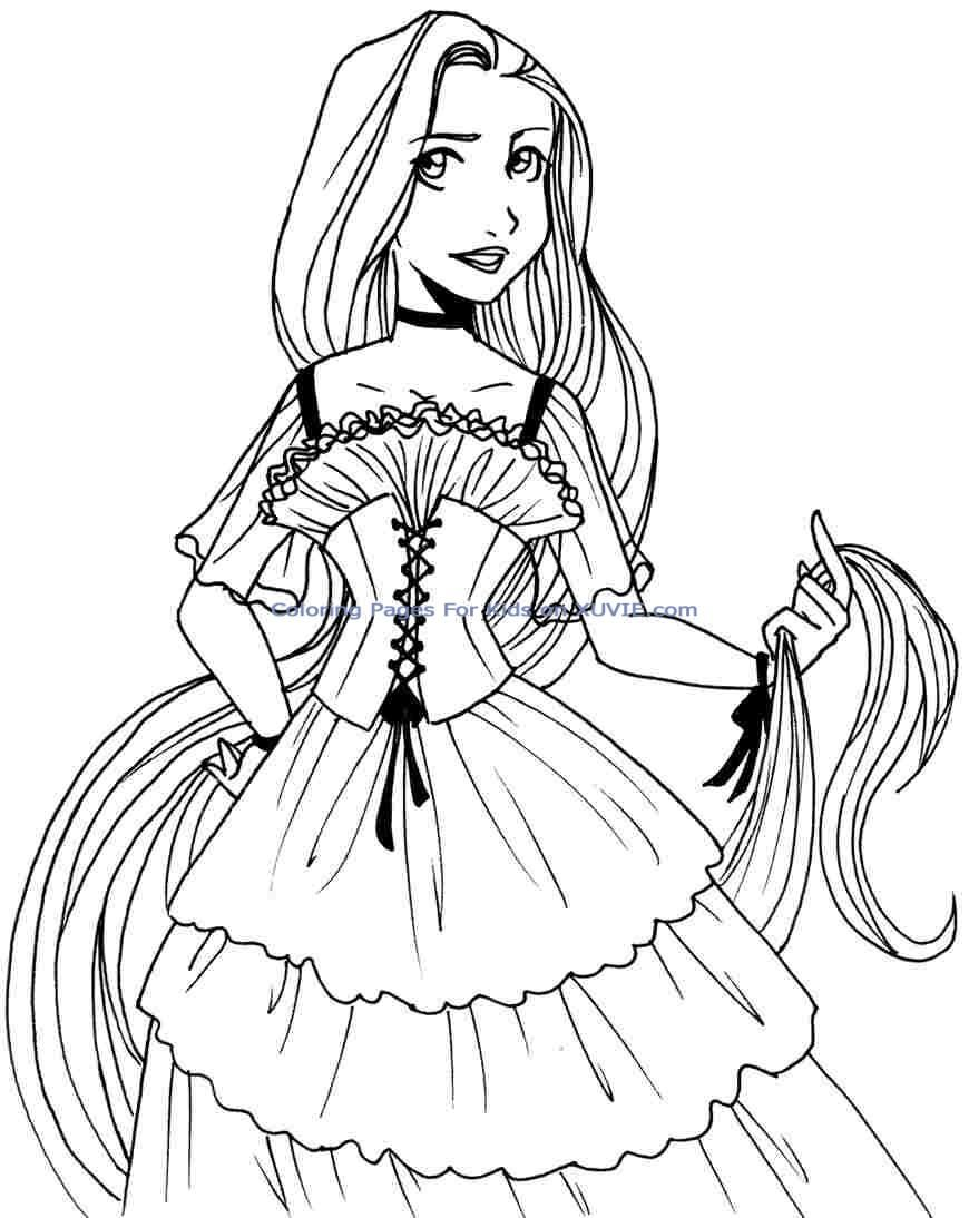 Free coloring pages disney princesses