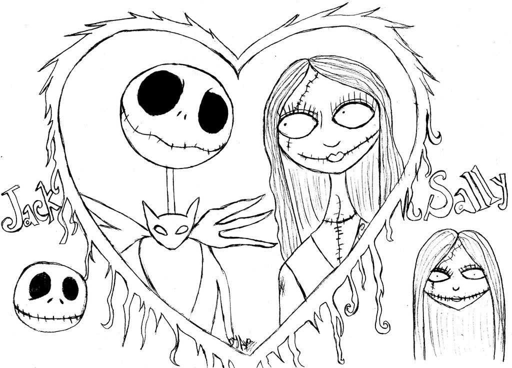 Nightmare before christmas coloring pages to print az coloring pages