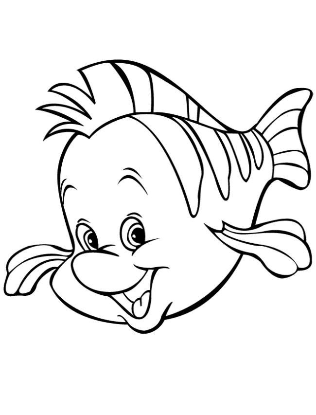Flounder Coloring Page Coloring Home