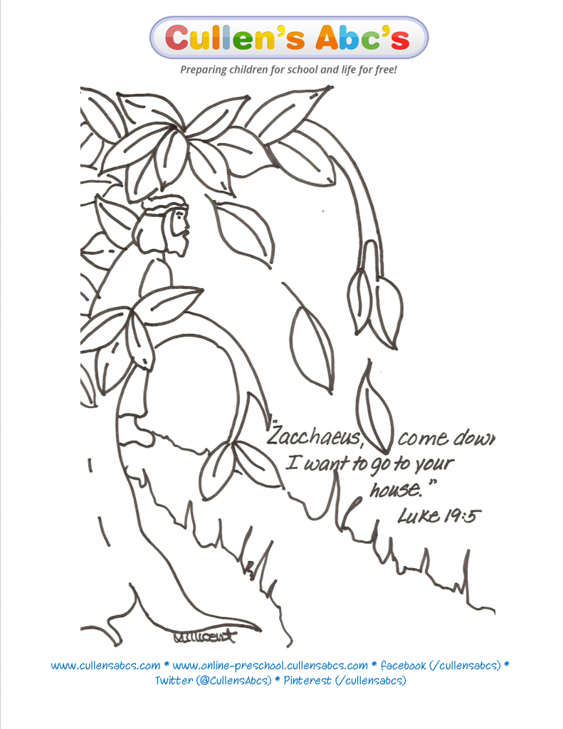 Free printable coloring pages zacchaeus - 15 Free Pictures For Zacchaeus Coloring Page Temoon Us