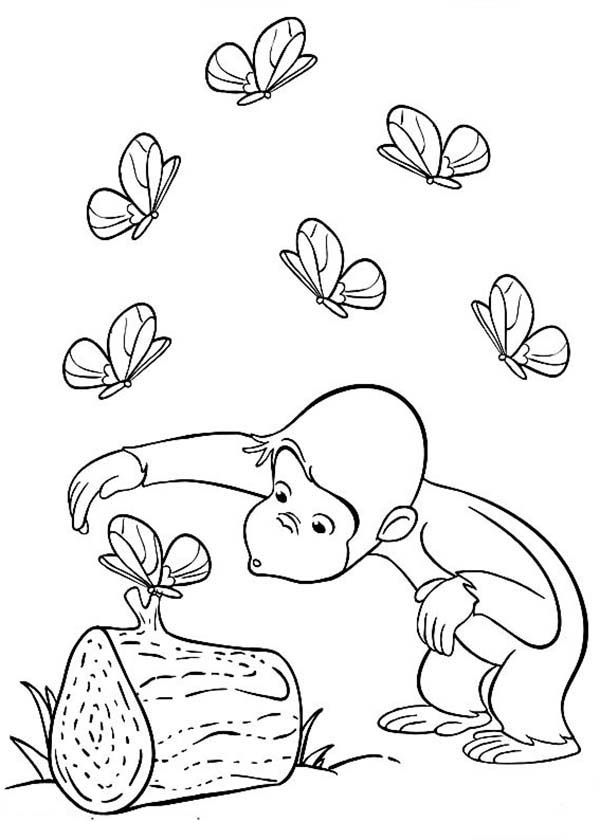 curious gorge coloring pages | Curious George Halloween Coloring Pages - Coloring Home