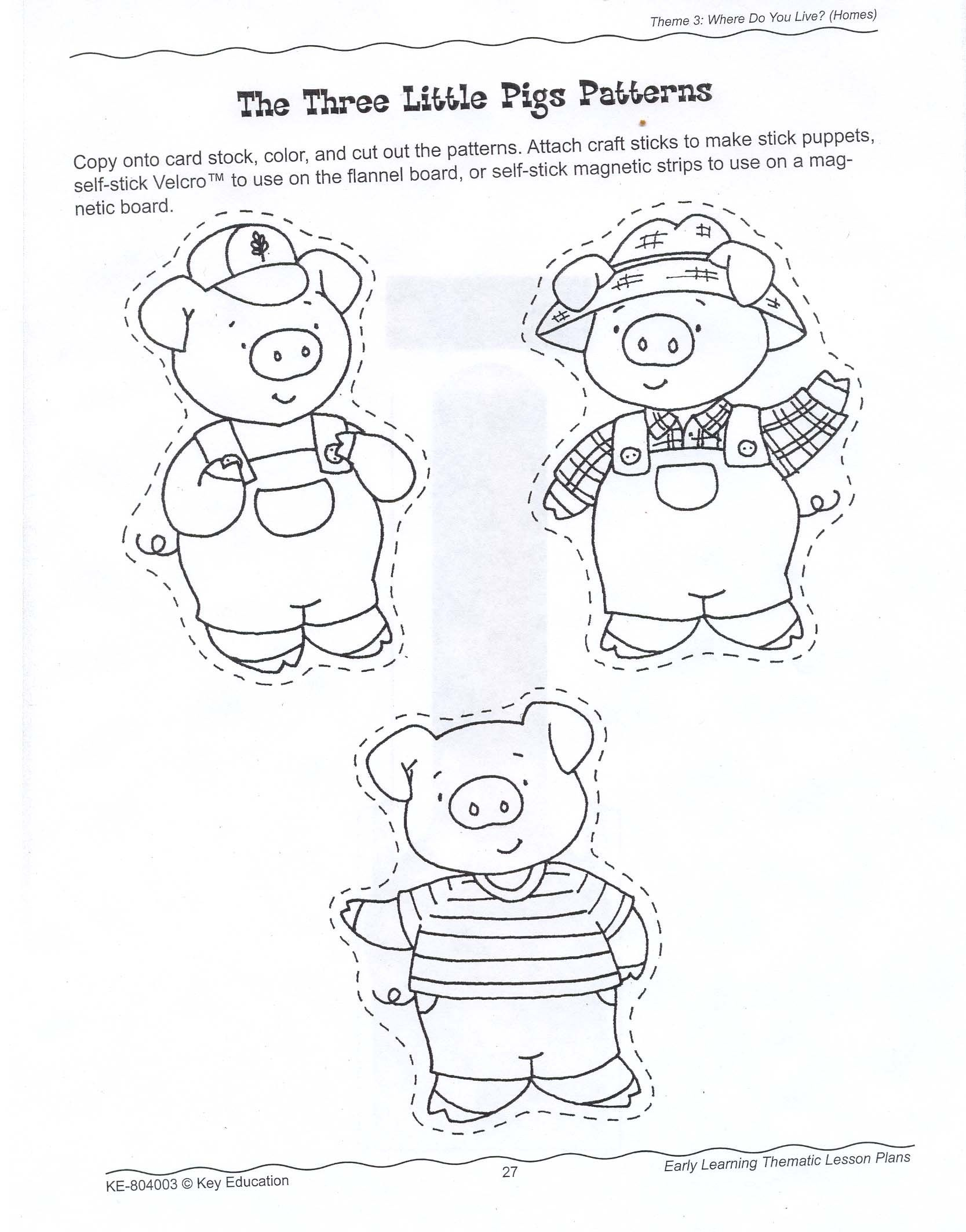 The Three Little Pigs Story Coloring Pages - Coloring Home