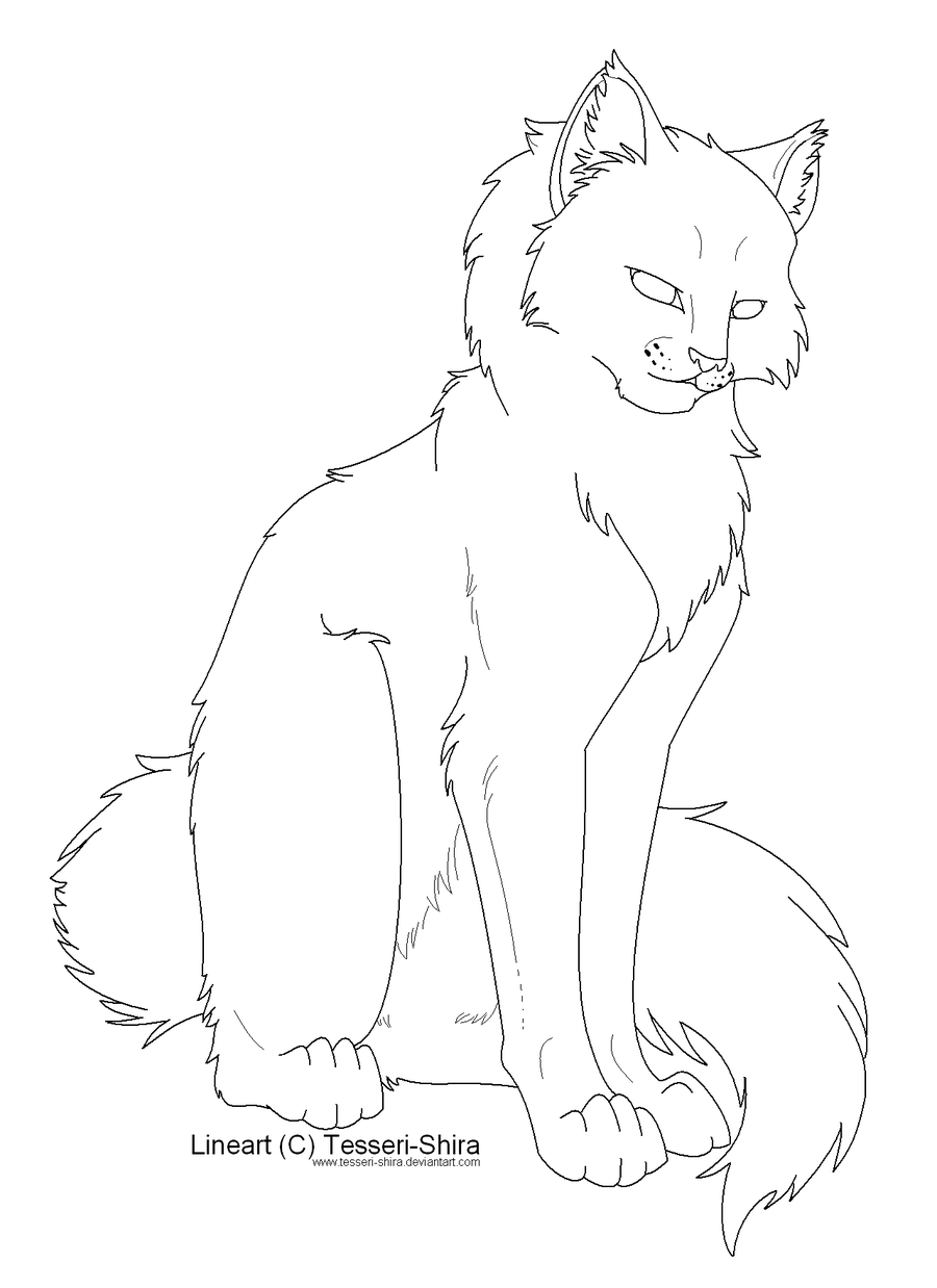 Warrior Cats Coloring Page Coloring Home